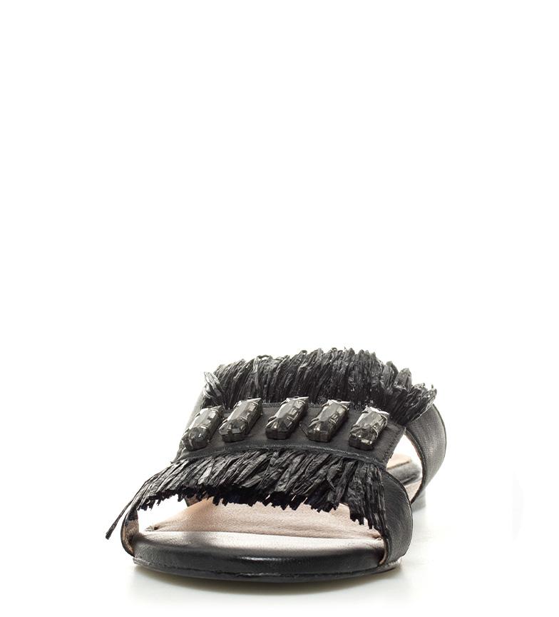 Sandalias de Úrsula piel de Gioseppo Gioseppo Sandalias negro piel ZBaqRw5