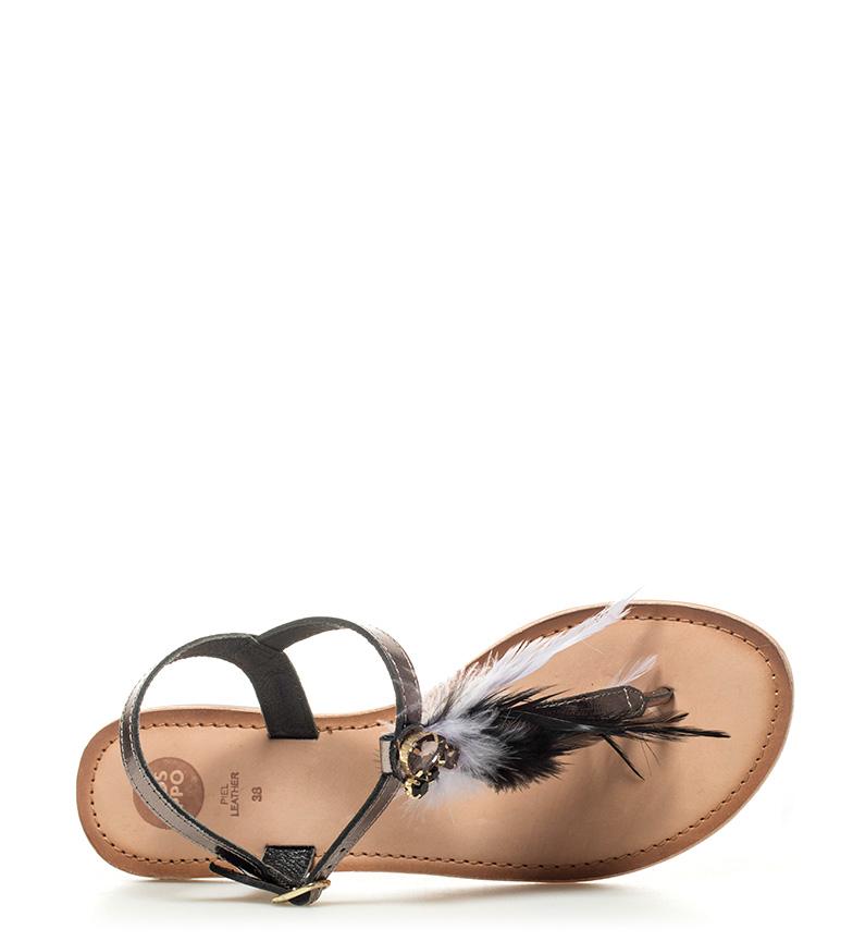 Gioseppo Sandalias de piel Nadín negro