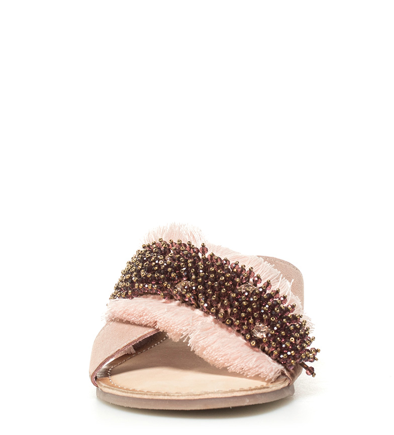 Sandalias rosa Gioseppo Sybella nude piel de SwBqp1