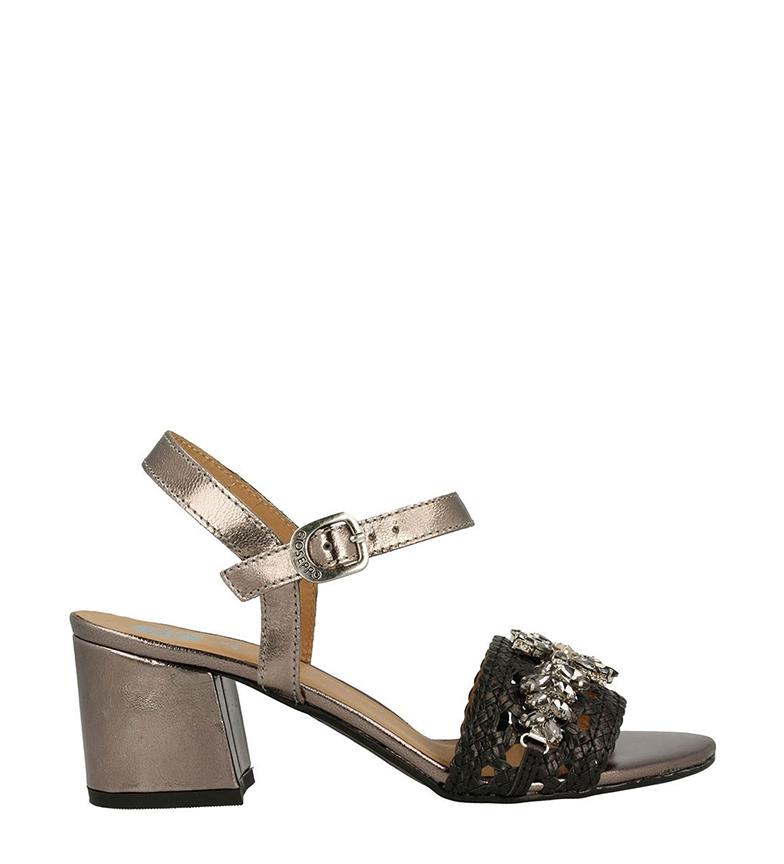 Comprar Gioseppo Sandalias de piel Sydney plata, negro -Altura del tacón: 5cm-