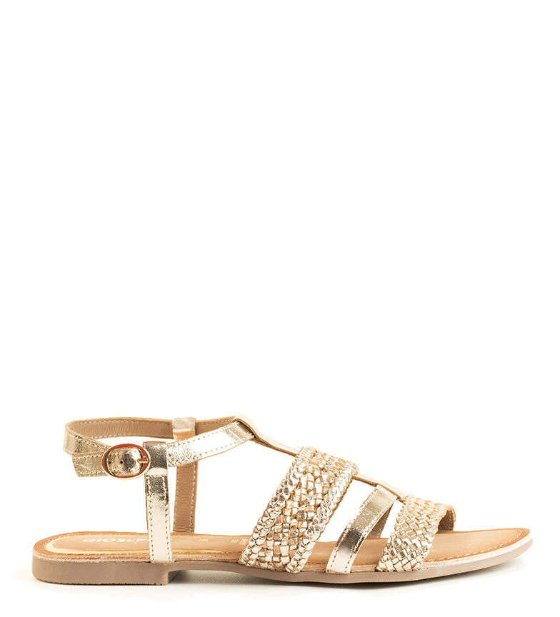 Comprar Gioseppo Golden Tarouca leather sandals