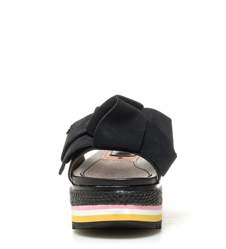 Sandalias negro Gioseppo Altura piel de plataforma Sandalias Verus 6cm Gioseppo EEqYwHA