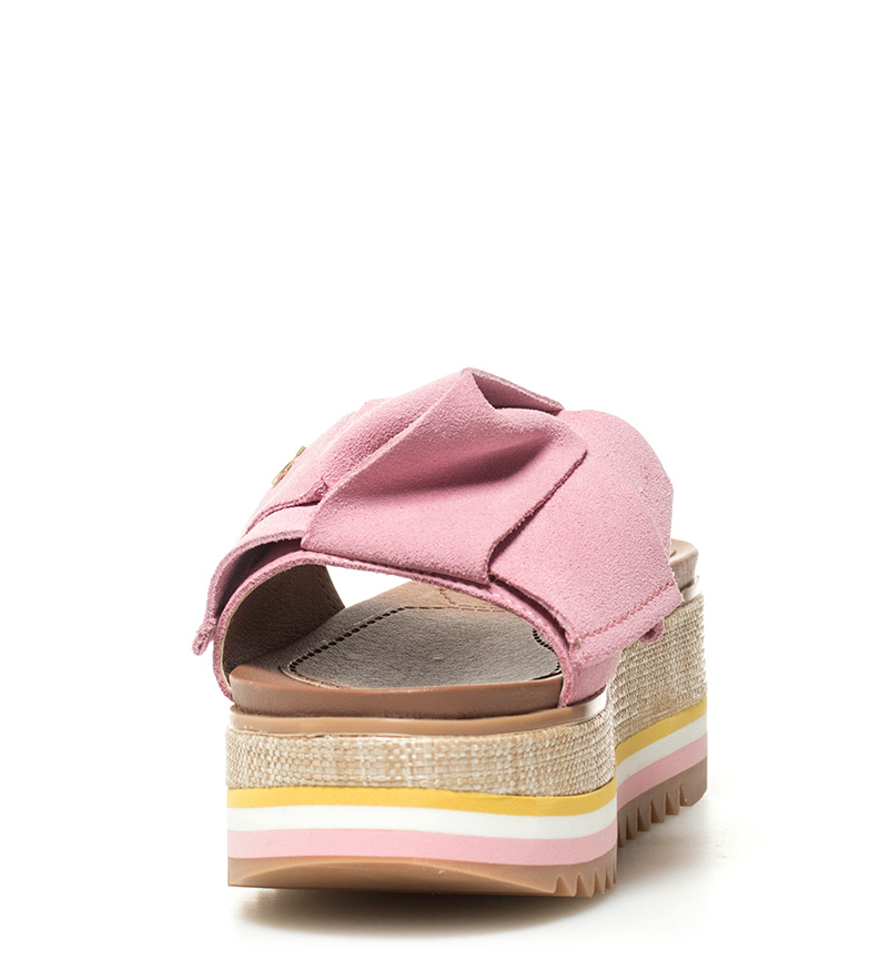 plataforma Sandalias piel de rosa Verus Gioseppo Altura 6cm FqanYd6