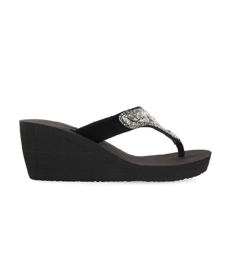 Comprar Gioseppo Black Haydock slippers - wedge height: 7.5cm