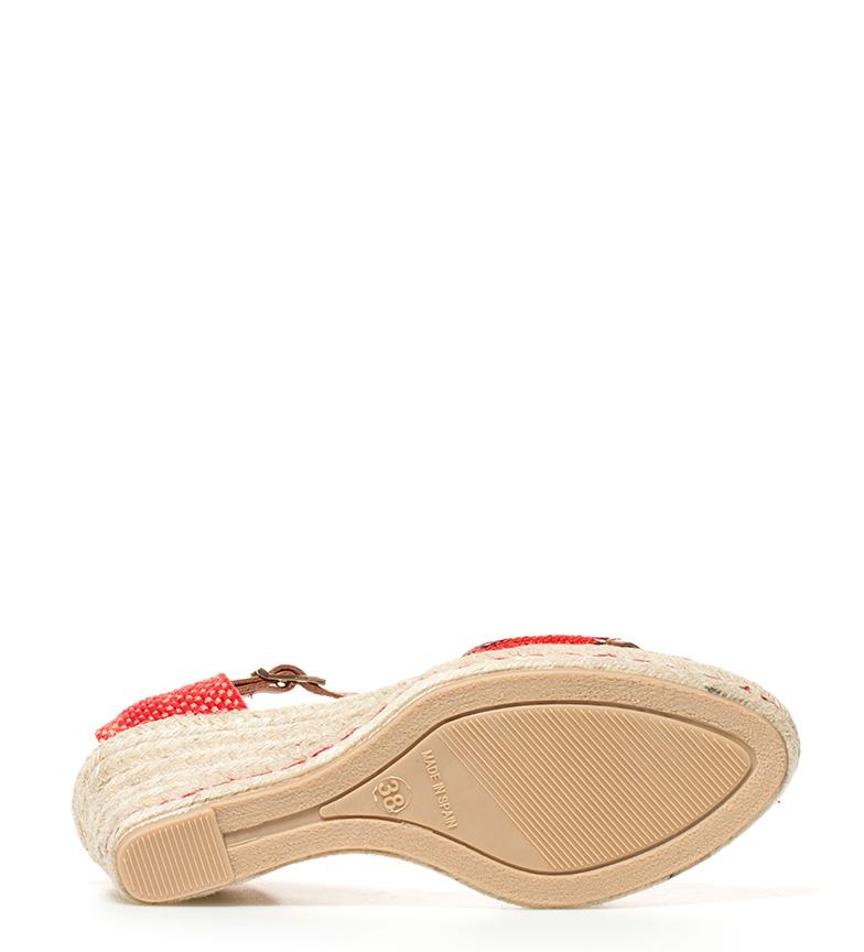 cuña Sandalias br 8cm Altura Gioseppo br rojo Oula qRxwfvF81