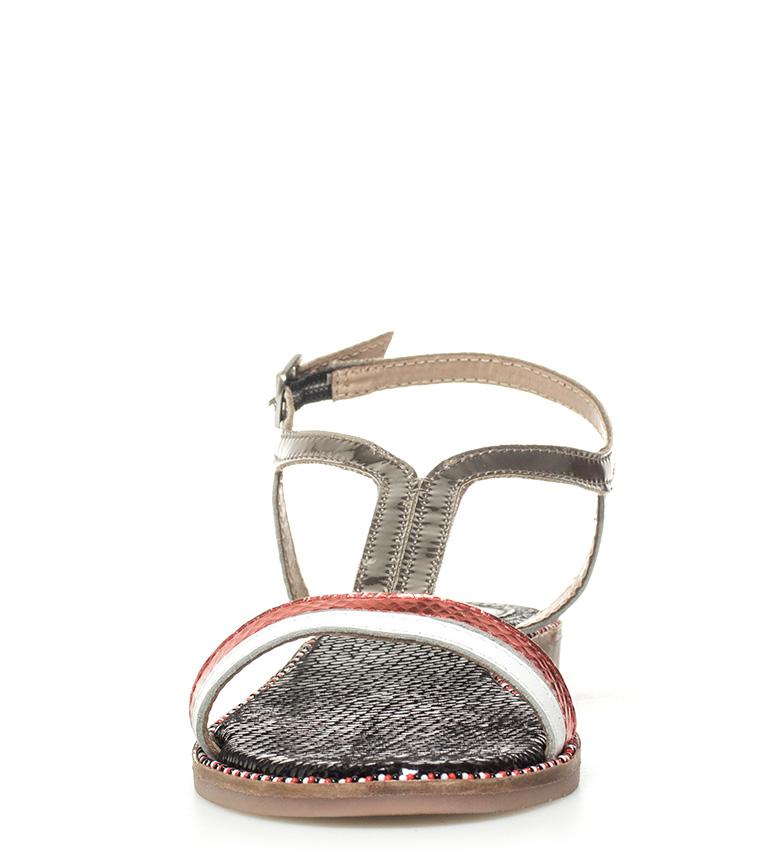 Gioseppo Sandalias de piel Rivka plata