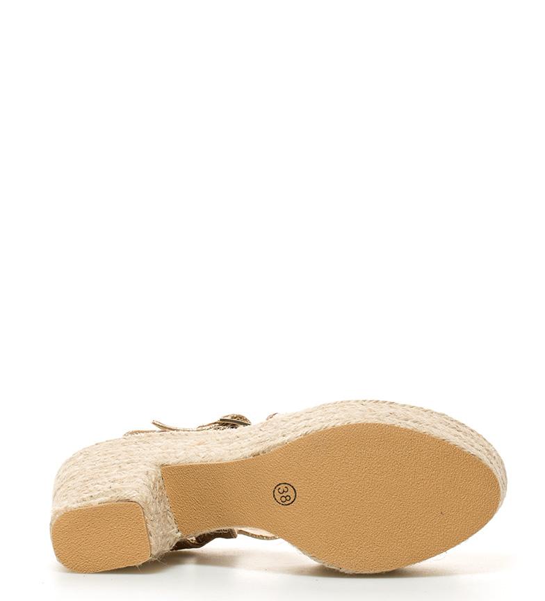 Altura Sandalias tacón plataforma br br Sabioni oro 11cm Gioseppo FwRB7