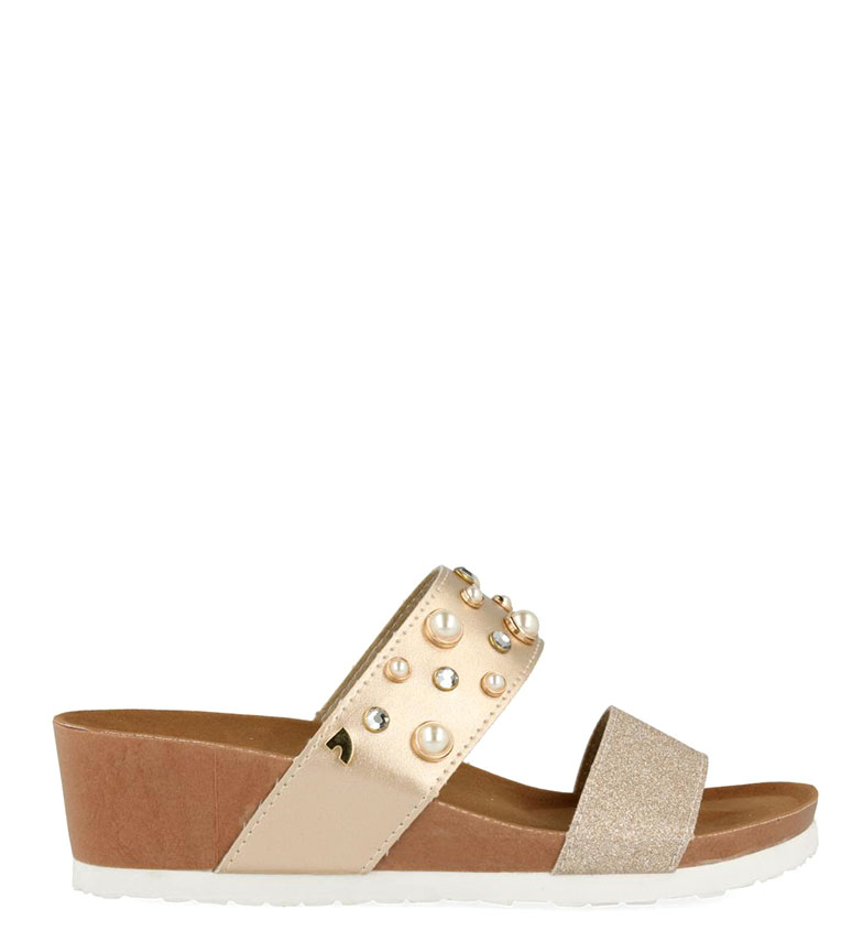 Comprar Gioseppo Sandals Sara gold - Wedge height: 5cm
