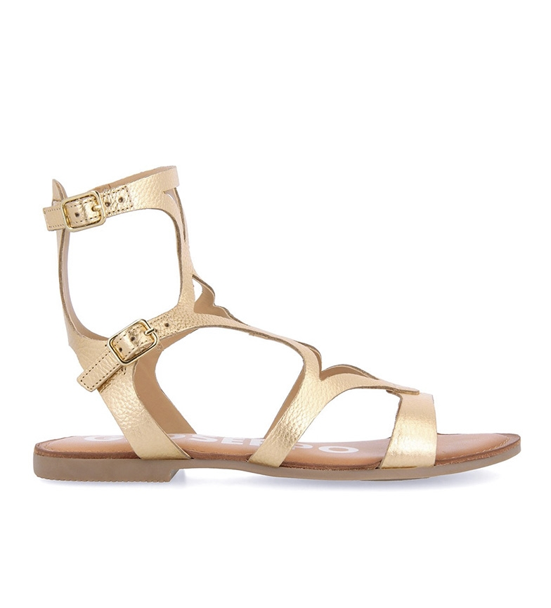 Gioseppo Corning gold leather sandals