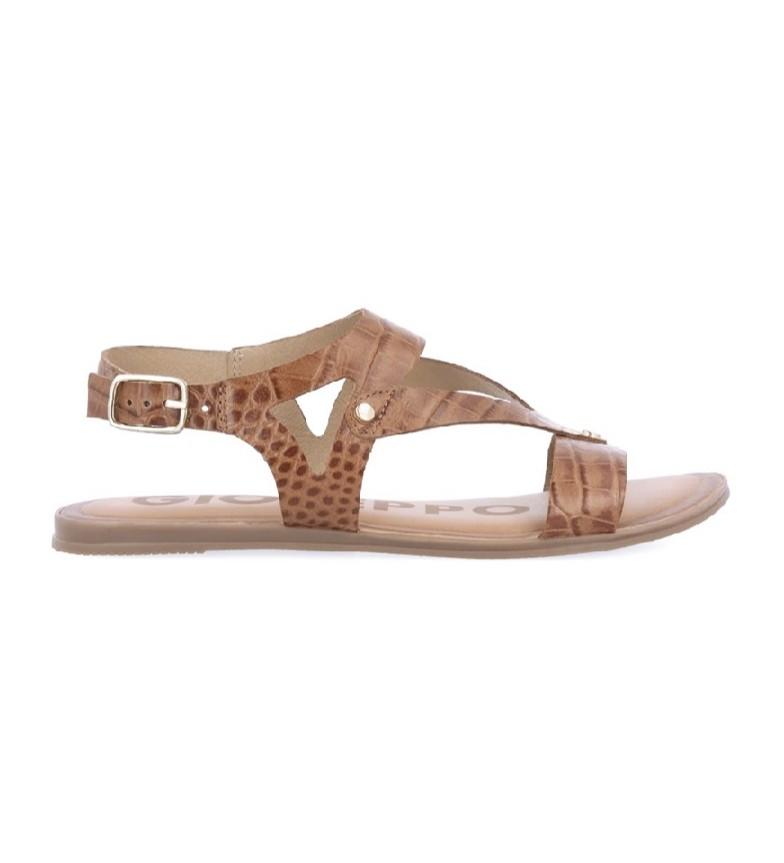 Gioseppo Sandálias de couro castanho Reece
