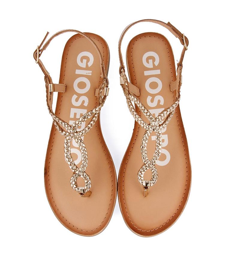 Comprar Gioseppo Golden Fyffe leather sandals