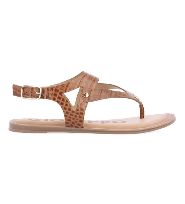 Gioseppo Sandalias de piel Petrey marrón