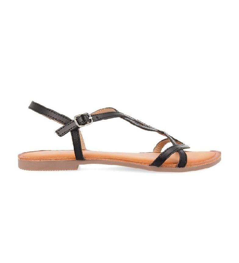 Comprar Gioseppo Sandálias de couro preto Navassa