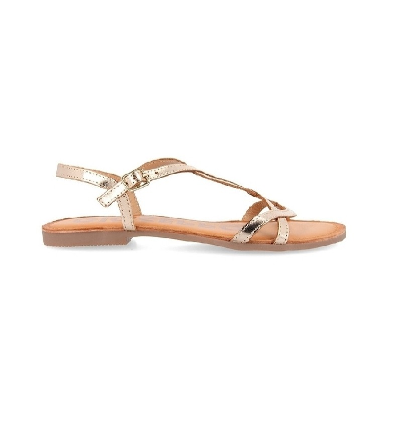 Comprar Gioseppo Gold Navassa leather sandals