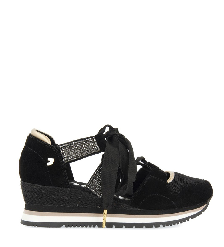 Comprar Gioseppo Leather sandal 58730 black - wedge height: 5cm