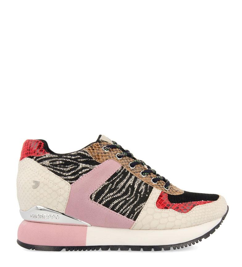 Comprar Gioseppo Sapatos multicoloridos em couro Theux - altura da cunha + sola: 5.8cm