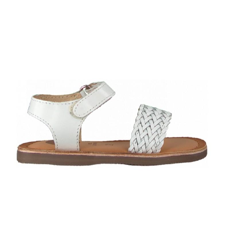 Gioseppo Volusia white leather sandals
