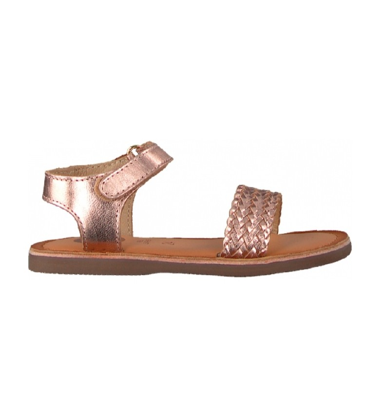 Gioseppo Volusia bronze leather sandals