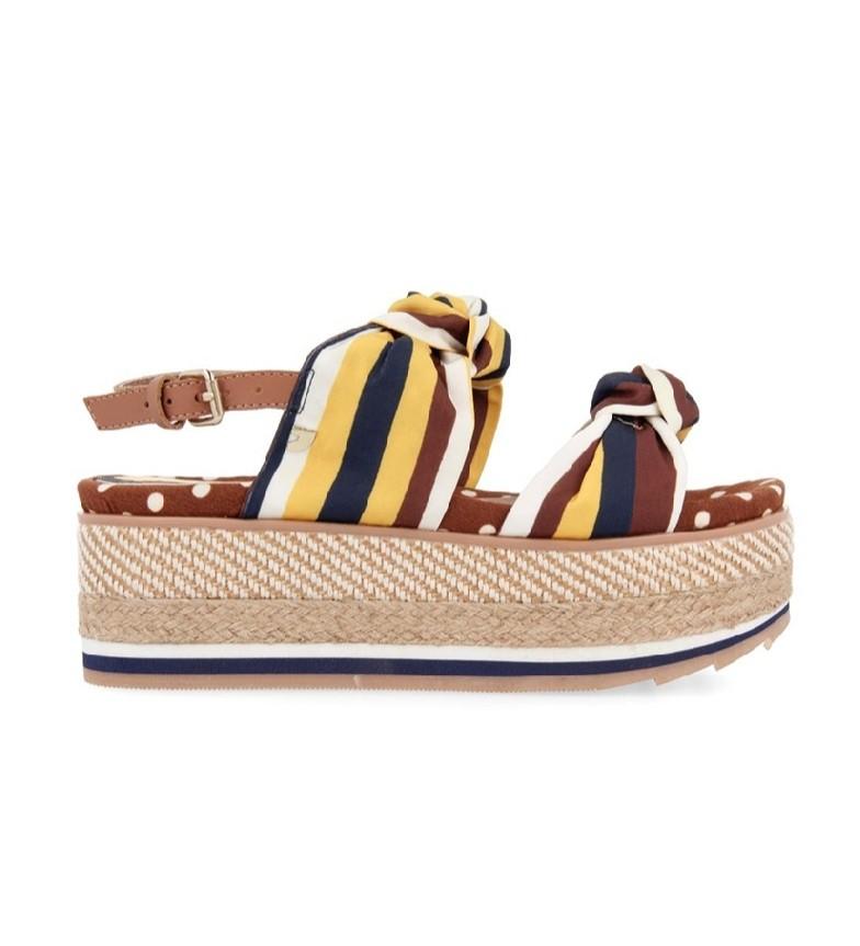 Comprar Gioseppo Sandálias Xanthi castanhas - Altura da plataforma: 6.5cm