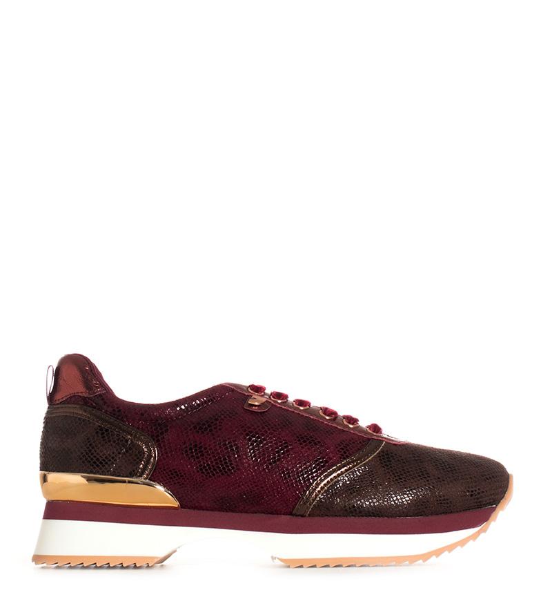 Comprar Gioseppo Zapatillas Ariel marrón, granate -Altura plataforma: 5cm-
