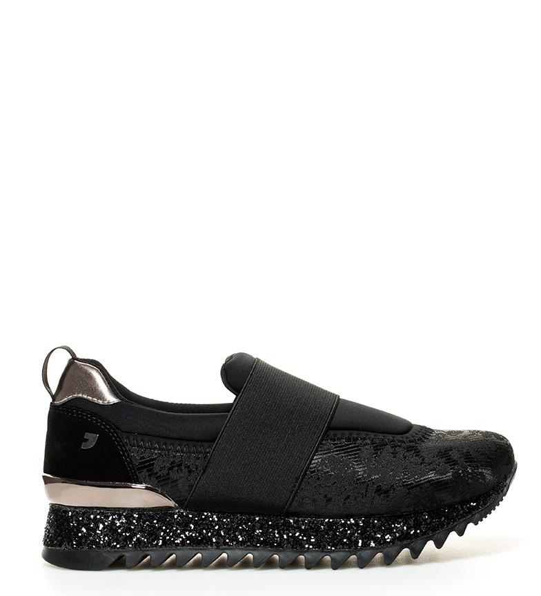 Gioseppo-Zapatillas-Timba-y-Ash-Mujer-chica-Negro-Tela-Plano-1-a-3cm-3-a-5cm