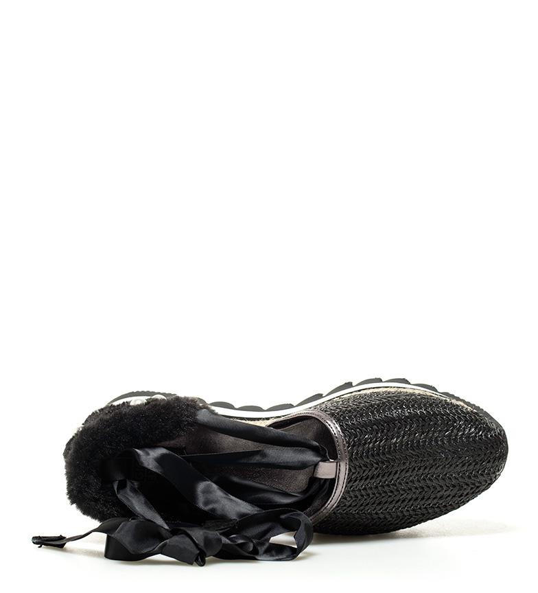 Gioseppo Gioseppo plataforma 4cm Zapatillas negro 4cm Zapatillas negro Altura Altura plataforma Curie Curie Gioseppo 00rgq