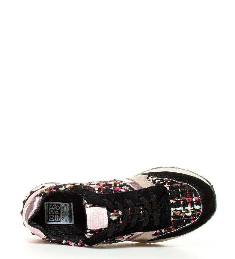 de Gioseppo Gioseppo piel Zapatillas de Bited negro multicolor Zapatillas gdwqg