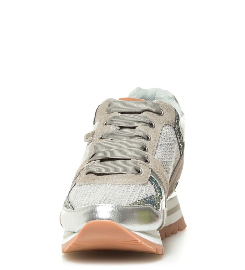 piel gris Gioseppo Zapatillas Gioseppo de Altura Zapatillas Darinka de 6cm cuña piel Darinka wtxzaqZw
