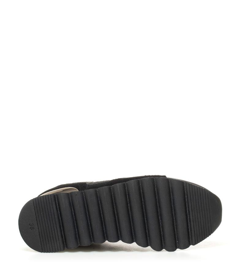 Zapatillas negro 6cm piel Gioseppo cuña Darinka Altura de B8g8qw7