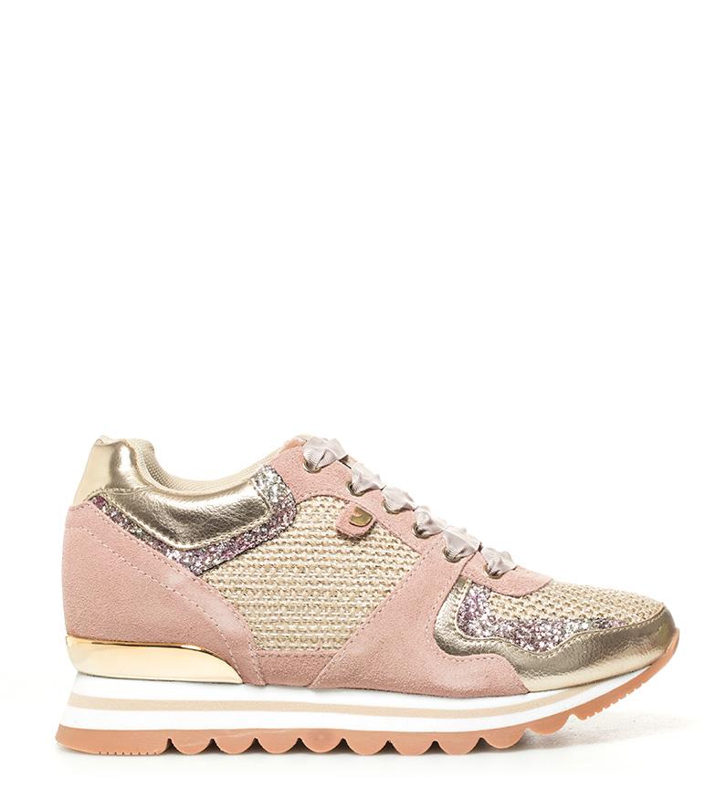 Comprar Gioseppo Zapatillas de piel Darinka rosa -Altura cuña: 6cm-