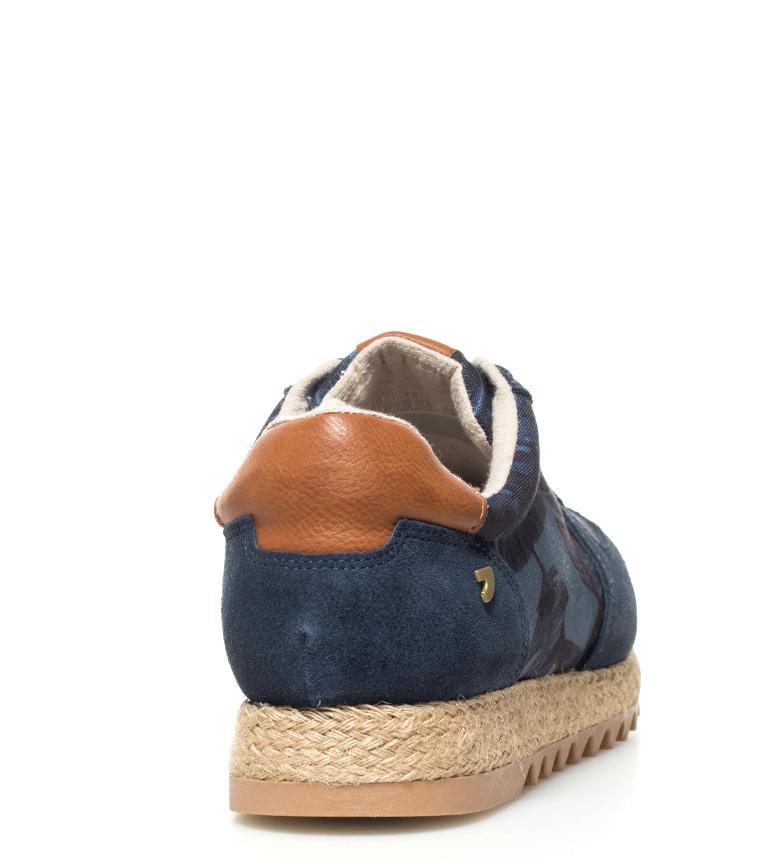 Gioseppo Zapatillas de piel Gle azul