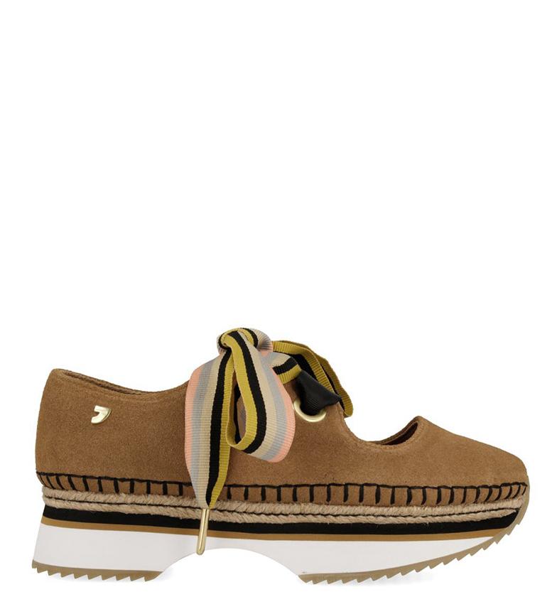 Comprar Gioseppo Zapatillas de piel Lores marrón -Altura plataforma: 5.5cm-