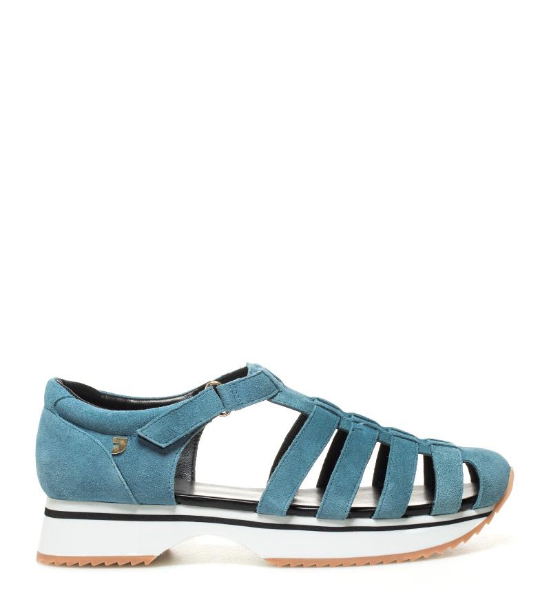 piel Zapatillas Viorica Gioseppo azul de x8UCwnqa