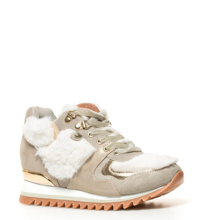 br Elsa suela cuña 6cm Zapatillas br Gioseppo blanco Altura beige pXPS5q