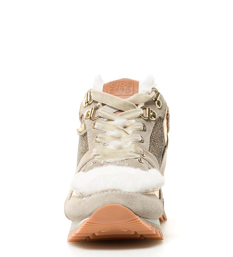 Glam 6cm br br Gioseppo blanco cuña beige Zapatillas Altura suela w5Cxzxq1T