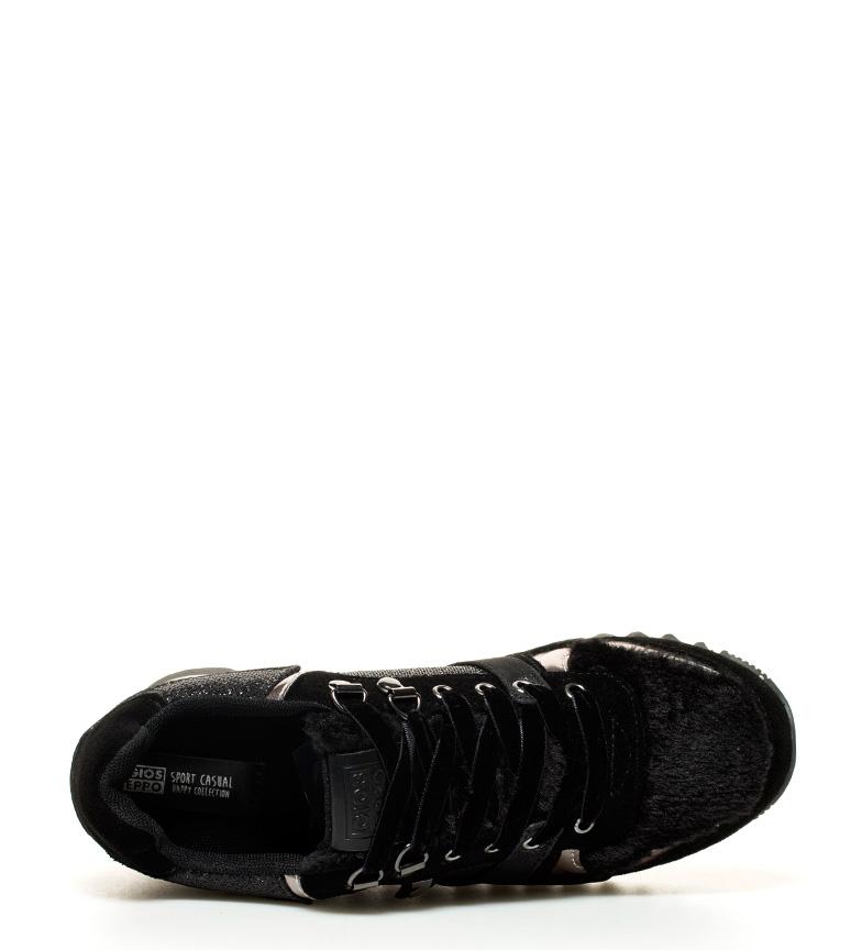 Jensen cuña Zapatillas negro Gioseppo Zapatillas 6cm interna Gioseppo suela Altura g7wtqxxaZ