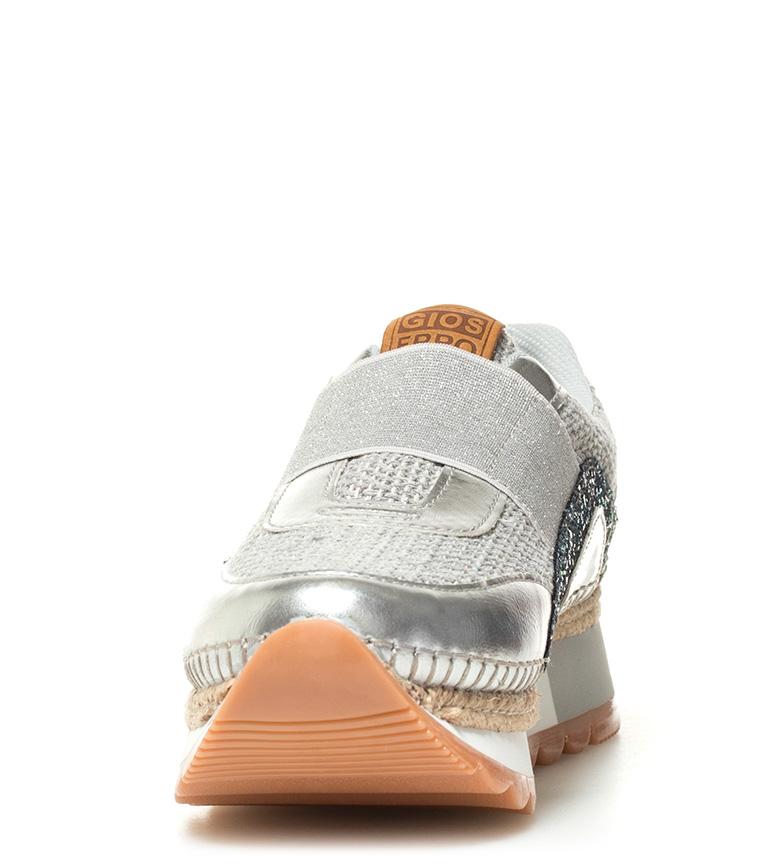 Zapatillas plataforma Lenka Altura 5cm plateado Gioseppo nvx0RcTWT