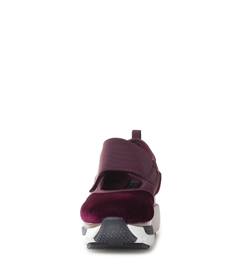 Gioseppo-Zapatillas-Modern-negro-Altura-suela-5cm-Mujer-chica-Granate-Tela miniatura 12
