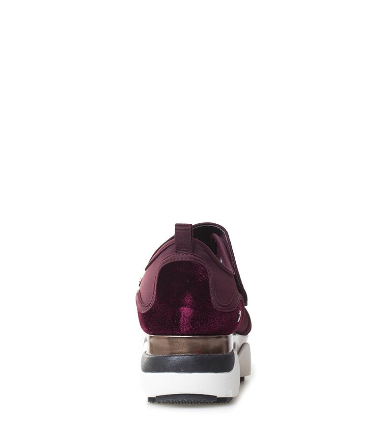 Gioseppo-Zapatillas-Modern-negro-Altura-suela-5cm-Mujer-chica-Granate-Tela miniatura 13