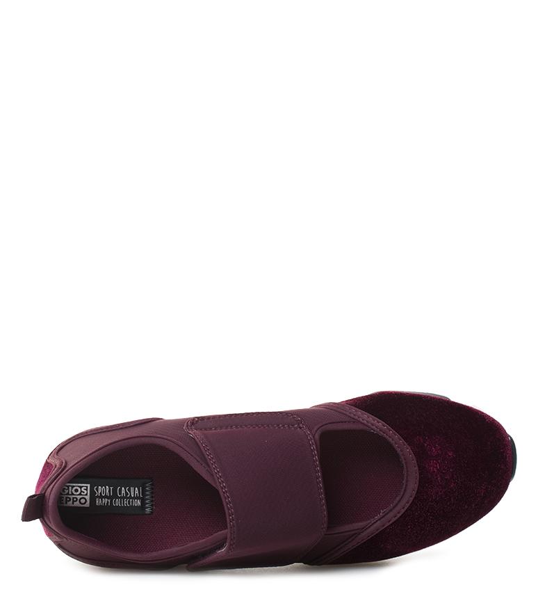 Gioseppo-Zapatillas-Modern-negro-Altura-suela-5cm-Mujer-chica-Granate-Tela miniatura 15