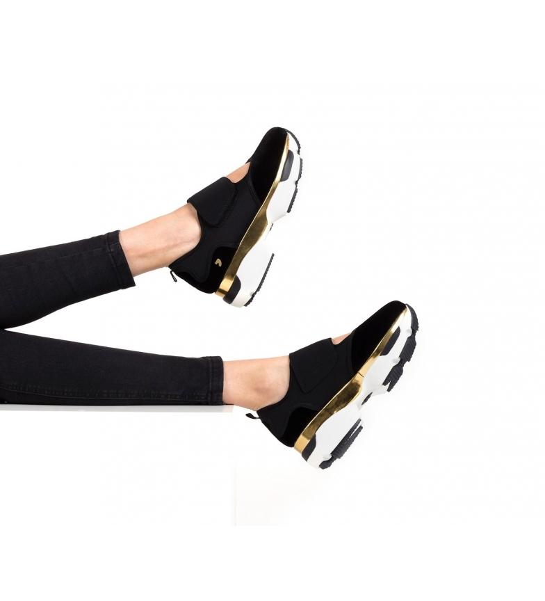 Gioseppo-Zapatillas-Modern-negro-Altura-suela-5cm-Mujer-chica-Granate-Tela miniatura 3