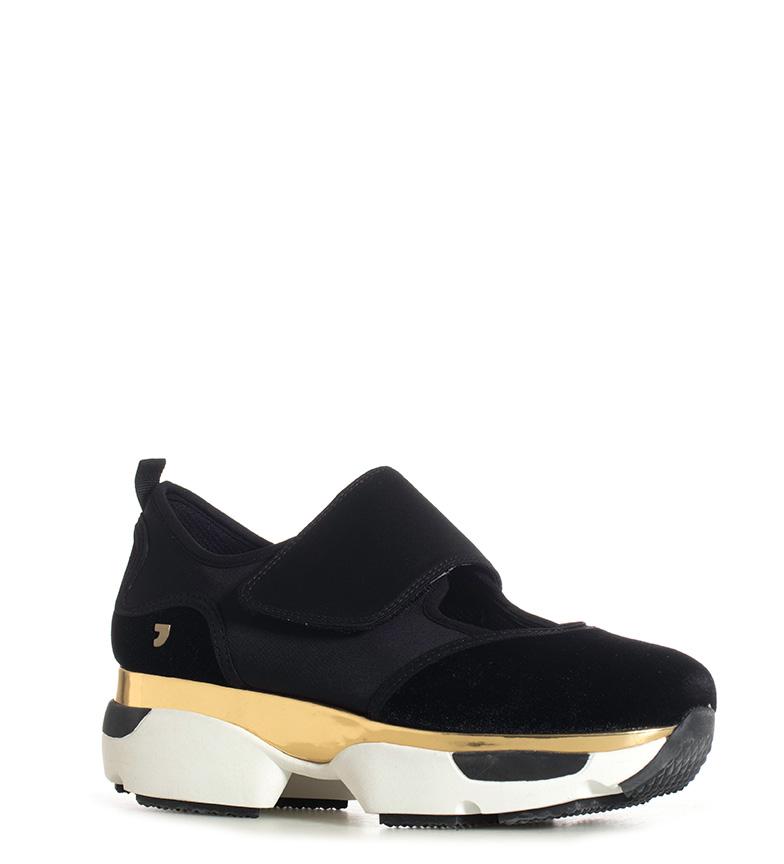 Gioseppo-Zapatillas-Modern-negro-Altura-suela-5cm-Mujer-chica-Granate-Tela miniatura 4