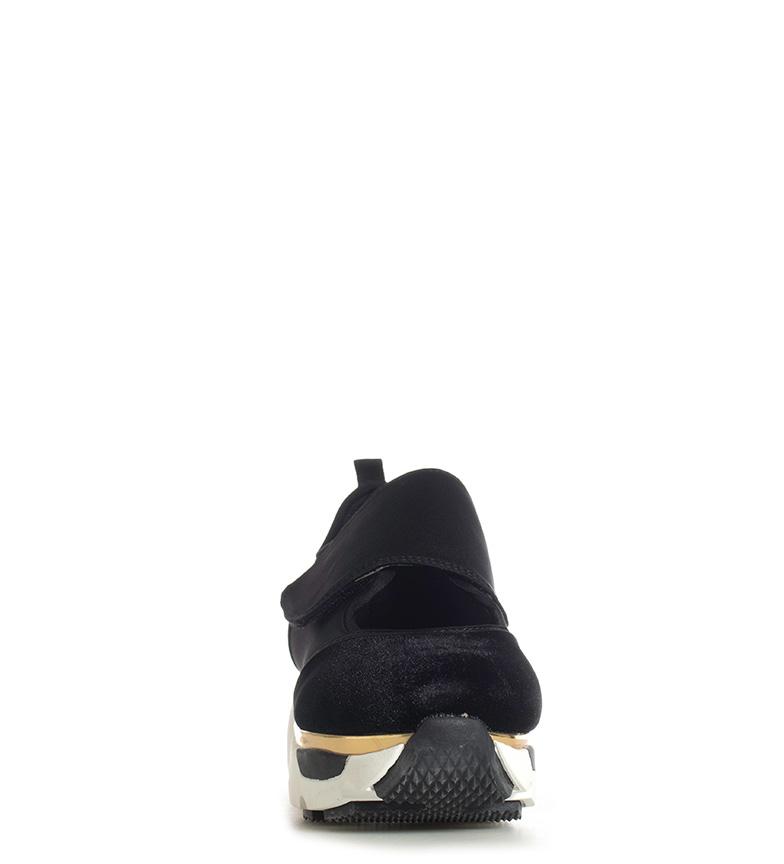 Gioseppo-Zapatillas-Modern-negro-Altura-suela-5cm-Mujer-chica-Granate-Tela miniatura 5