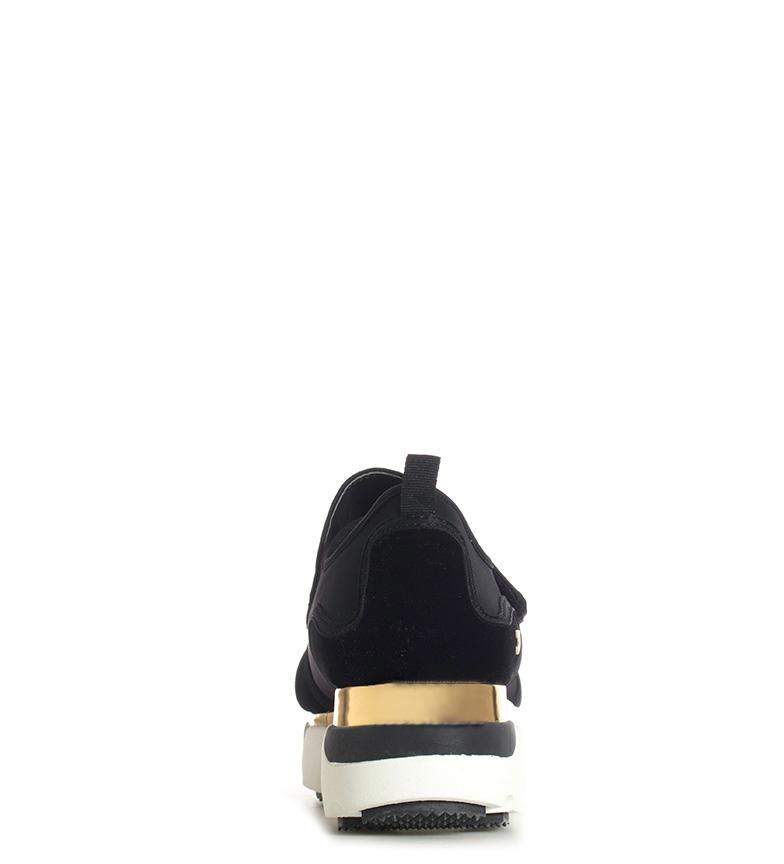 Gioseppo-Zapatillas-Modern-negro-Altura-suela-5cm-Mujer-chica-Granate-Tela miniatura 6