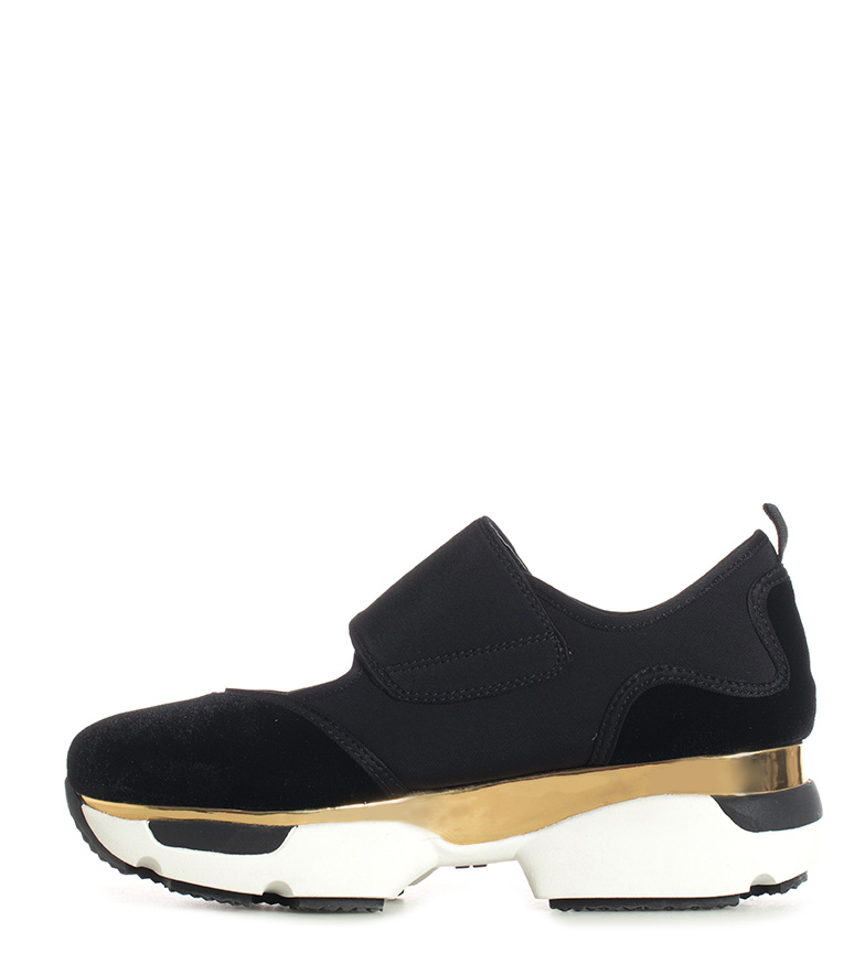 Gioseppo-Zapatillas-Modern-negro-Altura-suela-5cm-Mujer-chica-Granate-Tela miniatura 7