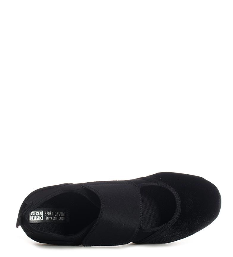 Gioseppo-Zapatillas-Modern-negro-Altura-suela-5cm-Mujer-chica-Granate-Tela miniatura 8