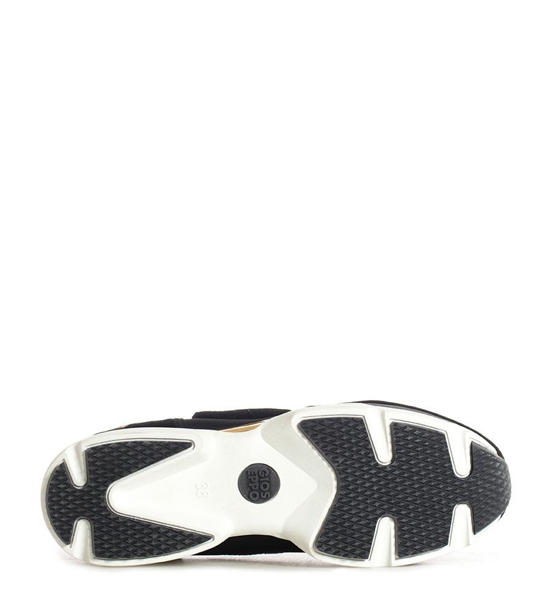 Gioseppo-Zapatillas-Modern-negro-Altura-suela-5cm-Mujer-chica-Granate-Tela miniatura 9