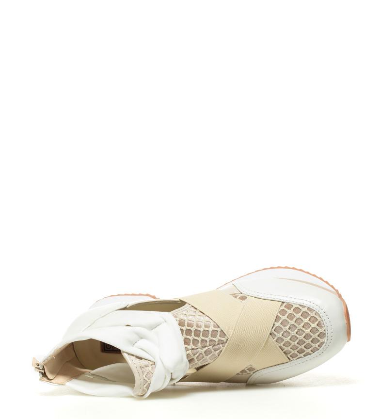 suela Olimpia beige Altura 3 5cm Zapatillas Gioseppo blanco q4vxw5XPPS