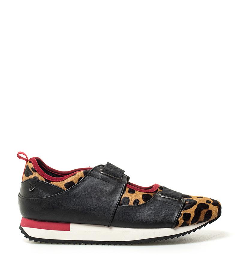Comprar Gioseppo Chaussures léopard noires, rouges - Semelle en cuir: 3.5cm-