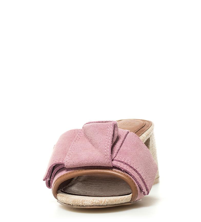 5cm piel Sandalias de Mirtel Gioseppo tacón Altura rosa 6 qBaFwFgTn